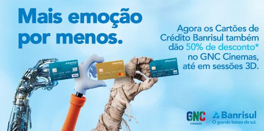 Promoção Banricompras e GNC Cinemas